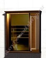 """Зеркальный шкаф для ванной комнаты с подсветкой """"Челси-1 АЛЕКС-80R орех"""""""
