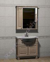 """Комплект мебели для ванной массив """"Челси-2 УОРВИК-85 береза"""" с зеркалом-шкафом (левая дверка)"""