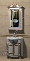 """Мебель для ванной """"Руссильон PROVENCE-55 светлое дерево"""" с зеркалом-шкафом"""