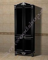 """Шкаф-пенал для ванной комнаты  """"Руссильон PROVENCE-2 черное дерево"""""""