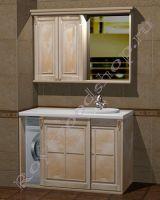 """Мебель для ванной со встроенной стиральной машиной """"Челси-2 КОМБИ-L береза"""""""