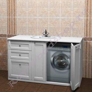 "Тумба под стиральную машину ""Руссильон PROVENCE-150 белый"""