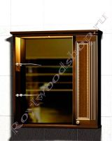 """Зеркало-шкаф для ванной с подсветкой """"Челси-1 АЛЕКС-85R орех"""""""