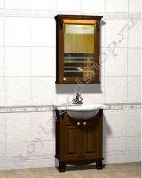 """Мебель для ванных """"Челси-2 УОРВИК-55R орех"""" из массива"""