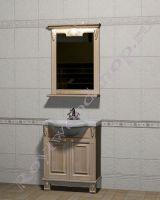 """Гарнитур для ванной комнаты """"Челси-2 УОРВИК-60 береза"""" с зеркалом"""