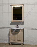 """Мебель в ванную из дерева """"Челси-2 УОРВИК-65 береза"""" с зеркалом"""