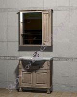 """Мебель ванная """"Челси-2 УОРВИК-85 береза"""" с зеркалом-шкафом (правая дверка)"""