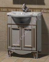 """Тумба с раковиной для ванной """"Руссильон PROVENCE-55 светлое дерево"""""""