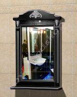 """Зеркало с полкой в ванную комнату """"Руссильон PROVENCE-60 черное дерево"""""""