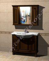"""Мебель для ванной из дерева """"Челси-2 УОРВИК-100 орех"""""""