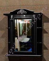 """Шкаф навесной для ванной комнаты """"Руссильон PROVENCE-80R черное дерево"""""""